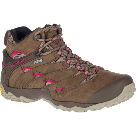 1302d8837db05 Merrell Chameleon 7 Mid GTX Ladies Hiking Shoes - Stone