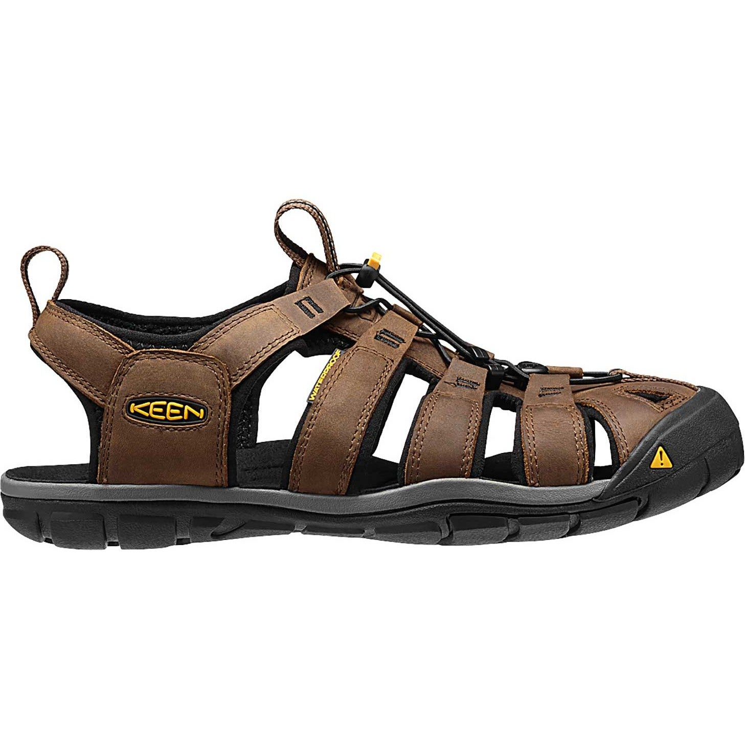 4ab37f22bd32 Keen Clearwater Cnx Leather Mens Footwear Sandals - Dark Earth Black ...