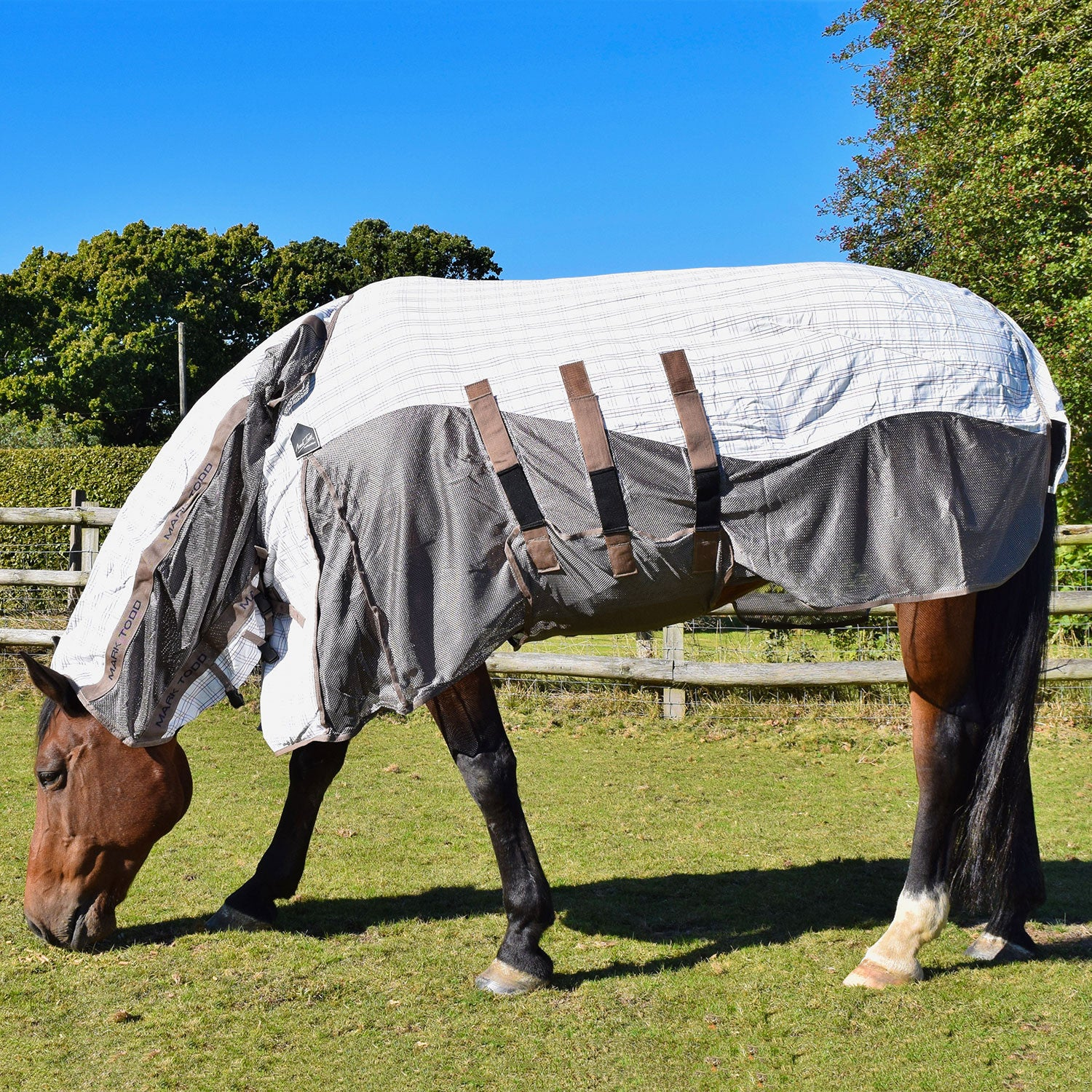 Mark Todd Air Mesh Combo Fly Rug White All Sizes