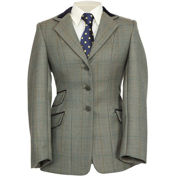 14f9e9e8 Shires Huntingdon Dame Competition Tweed Jacket - Green Herringbone