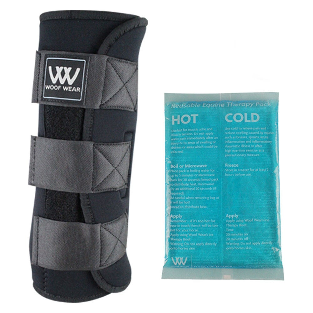 Details About Woof Wear Ice With Gel Packs Uni Horse Therapy Boot Black One Size