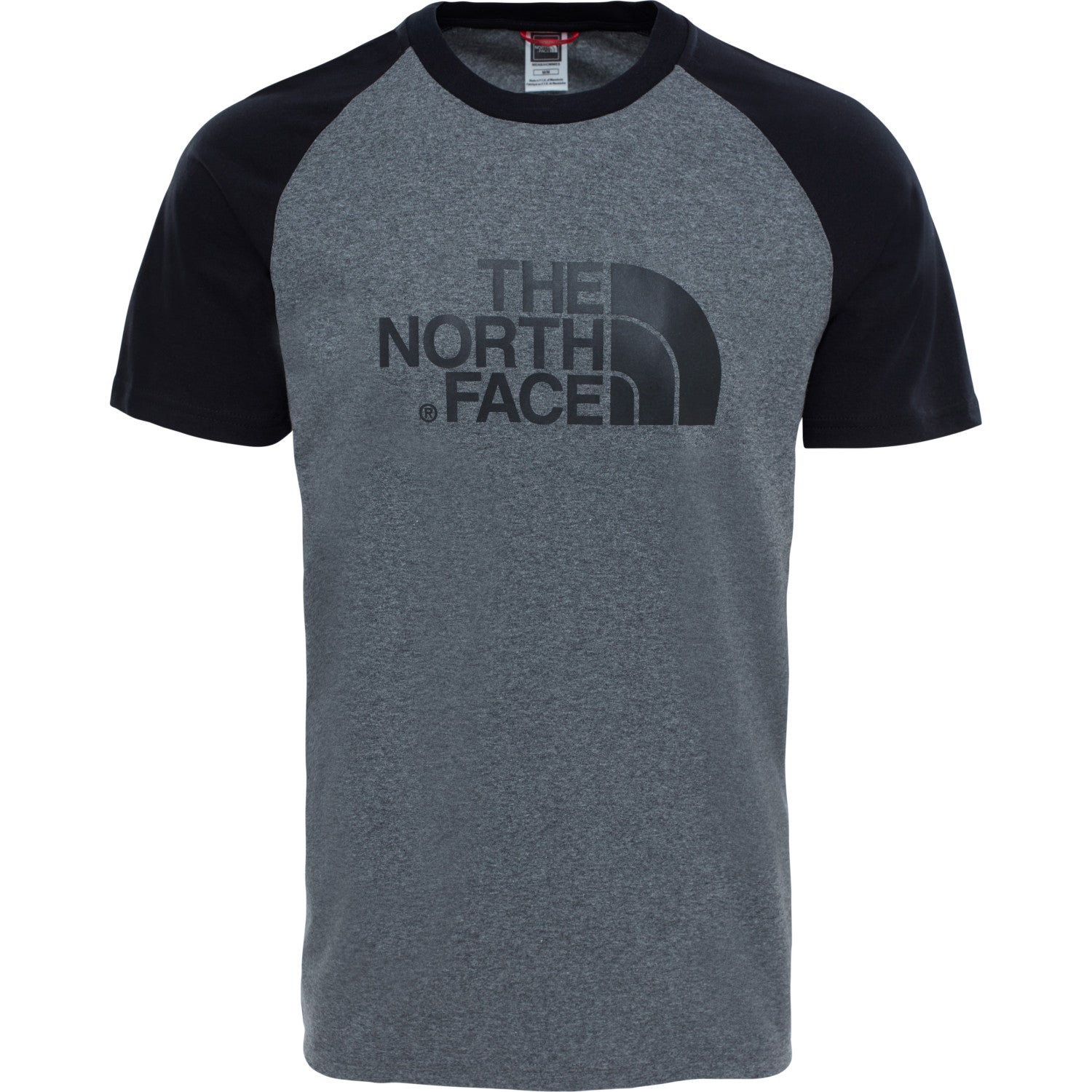 df0a3b8b102f4 The North Face Raglan Easy Mens T-shirt - Tnf Medium Grey Heather ...