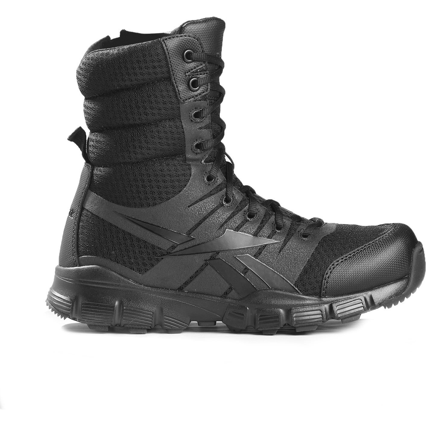 9f0c594604bb01 Reebok Military Dauntless 8in Seamless Side Zip Mens Military Boots Black  All Sizes