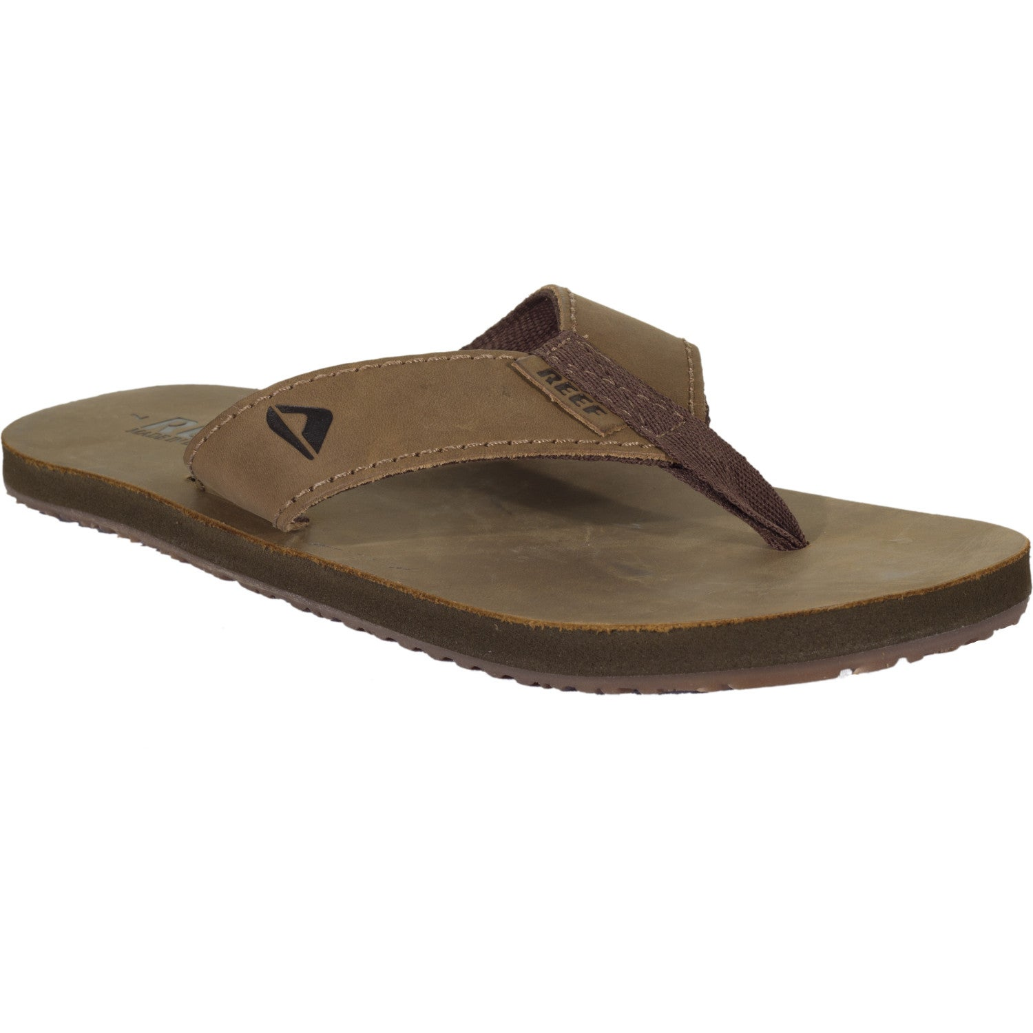 8ba6d6e619b4 Image is loading Reef-Leather-Smoothy-Mens-Footwear-Sandals-Bronze-Brown-