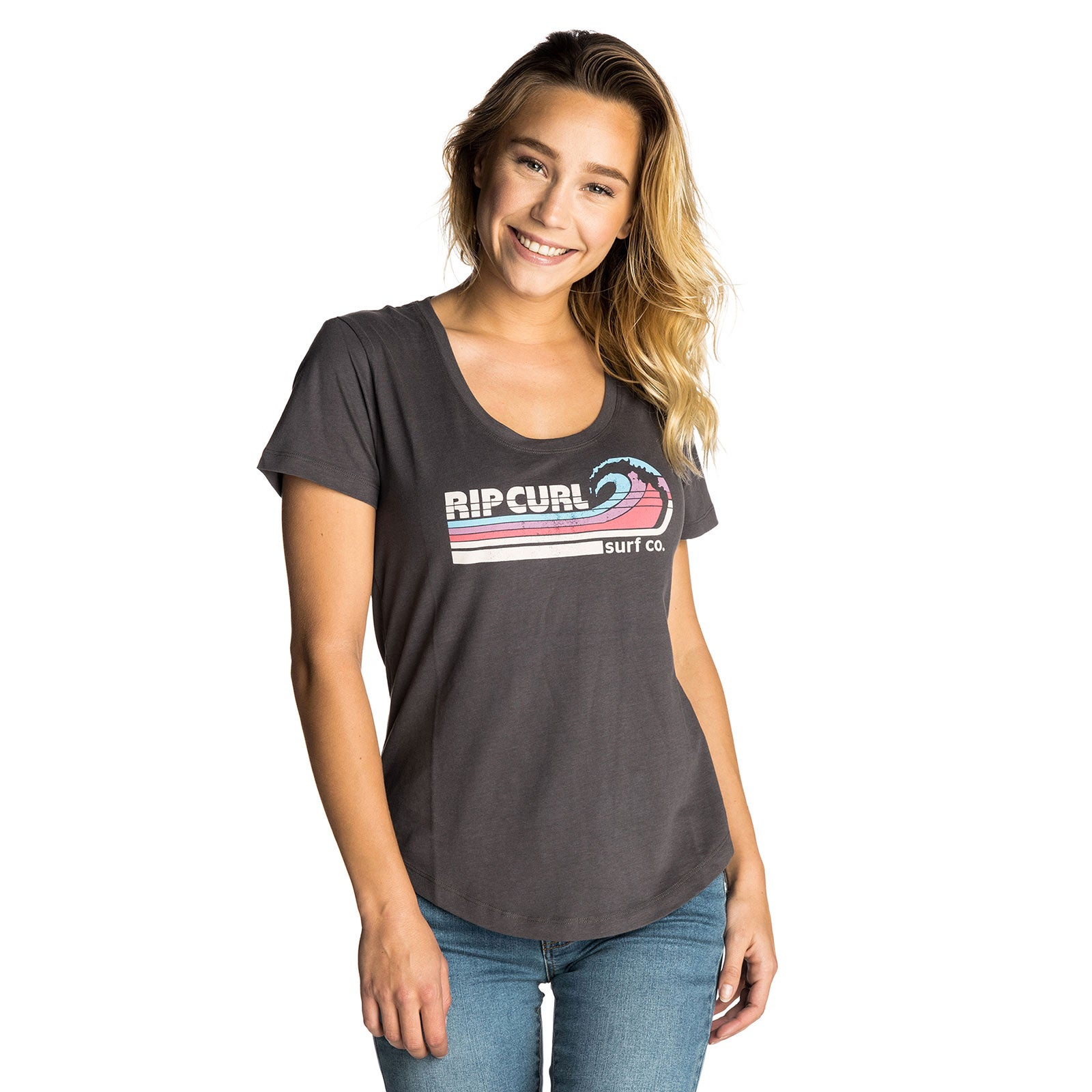 bf49dbc0b6 Details about Rip Curl Surf Co Womens T-shirt Long Sleeve - Asphalt All  Sizes