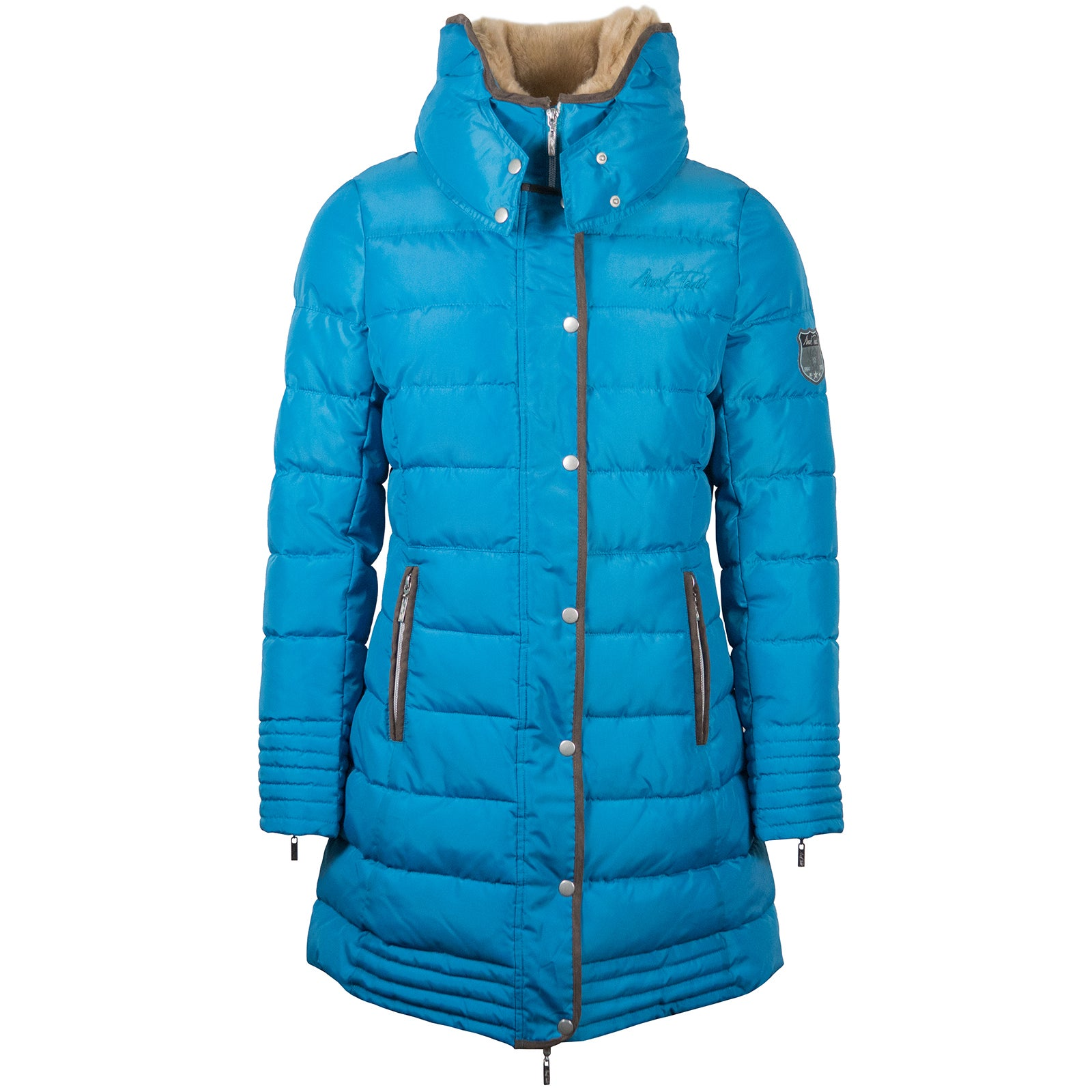 Mark Todd Deluxe Long Padded Womens Synthetic Fill Jacket Blue All Sizes 0903613e3