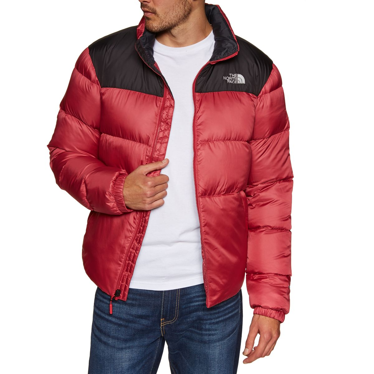 2ae419264a The North Face Nuptse Iii Mens Jacket Down - Rage Red Tnf Black All ...