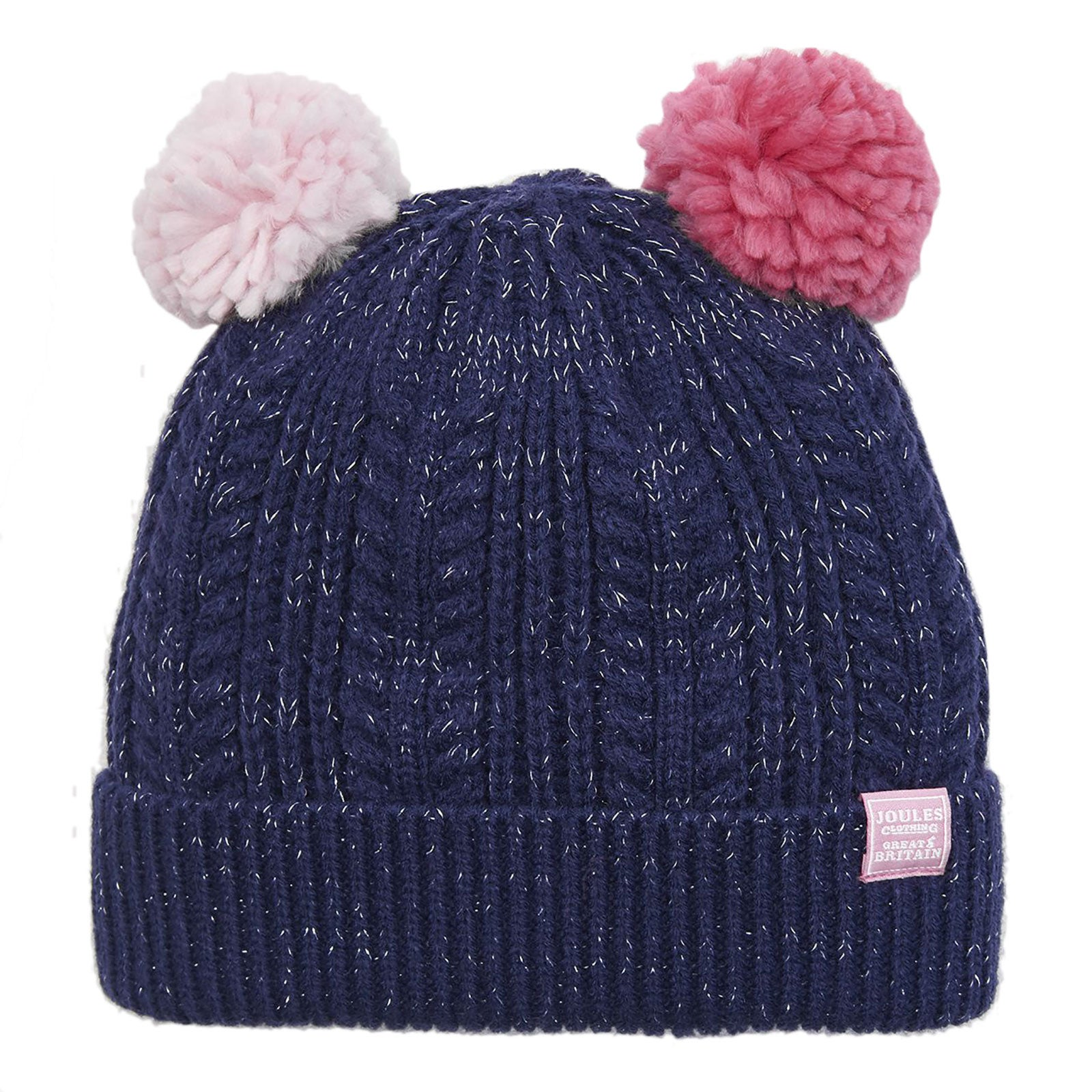 cdf7dbed749 Joules Ailsa Double Pom Girls Headwear Hat - Navy All Sizes