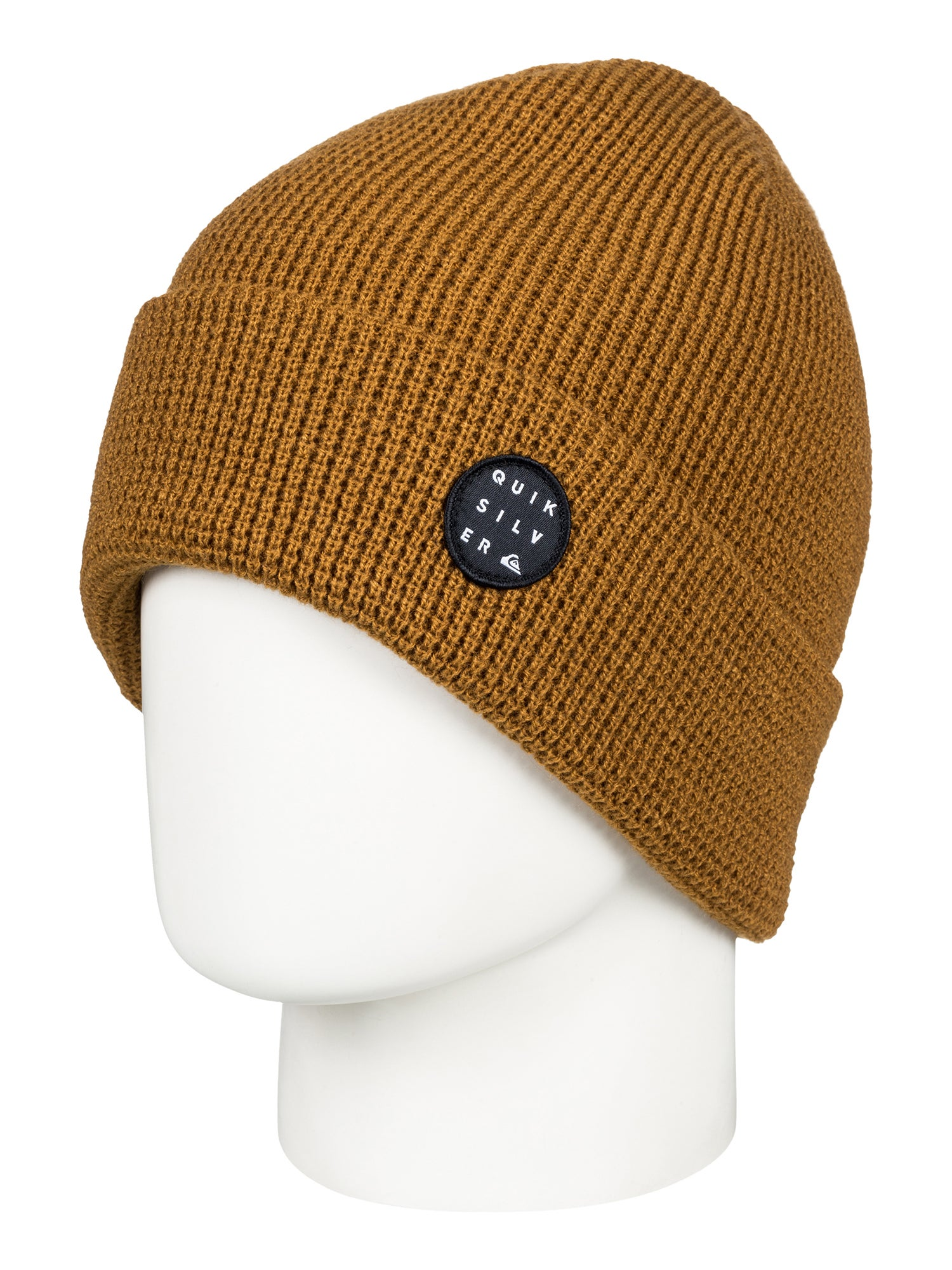 be6f940f1d1 Quiksilver Local Mens Headwear Beanie Hat - Golden Brown One Size
