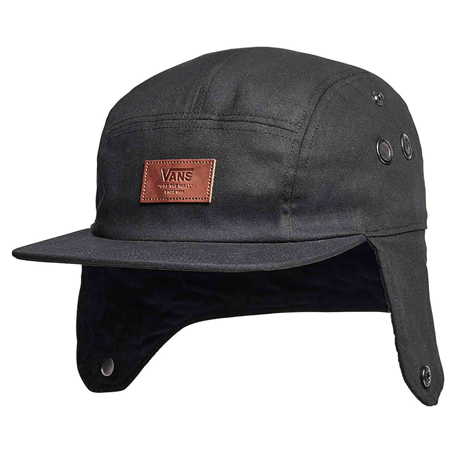 Vans Flap 5 Panel Camper Mens Headwear Cap - Black One Size  f5af0ac2fe7