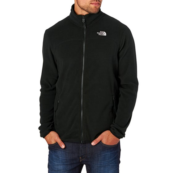 d39213fa8a1 North Face 100 Glacier Full Zip Fleece - TNF Black