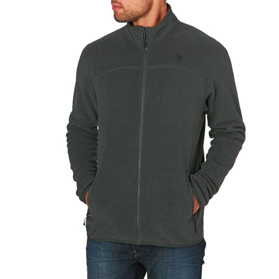 214db3041e7 North Face 100 Glacier Full Zip Fleece - TNF Dark Grey Heather