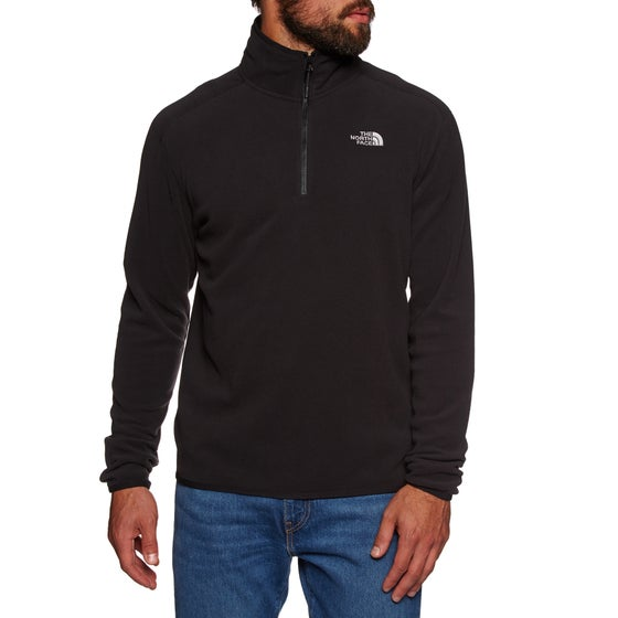 b002e169 North Face 100 Glacier Quarter Zip Fleece - TNF Black