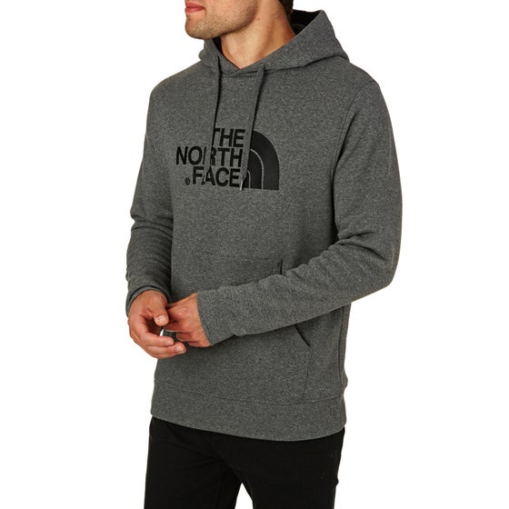 4c4106dc3941a North Face Drew Peak Pullover Hoody - Medium Grey Heather TNF Black