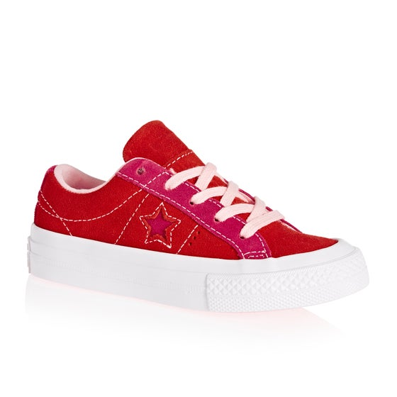 b341f334291ab Chaussures Enfant Converse One Star Ox - Enamel Red Pink Pop
