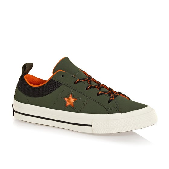 02617519 Calzado Niño Converse One Star Ox - Utility Green Campfire Orange