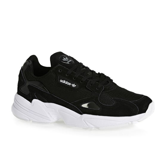 purchase cheap a9f4f fc339 Adidas Originals. Adidas Originals Falcon Womens Shoes - Black White