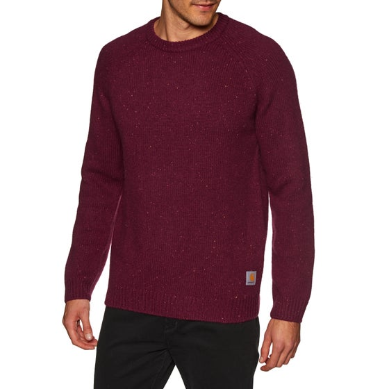 b469caaa90b38 Carhartt Anglistic Sweater - Mulberry Heather