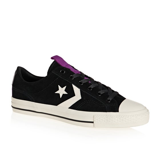 4a03233bd24f0 Chaussures Converse Star Player Ox - Black Egret Icon Violet