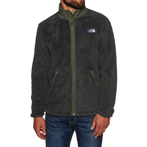 468401e1f8 Sweat à Capuche avec Fermeture Éclair North Face Campshire - Weathered Black  New Taupe Green