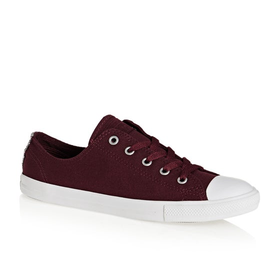 42c2e9f6914ec Chaussures Femme Converse Chuck Taylor All Stars Dainty Ox - Dark Burgundy  Silver White