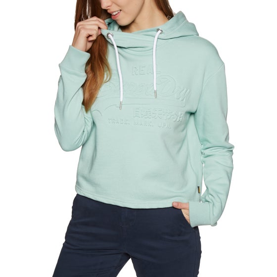 db25f14077d Superdry. Superdry Logo Emboss College Crop Womens Pullover Hoody ...