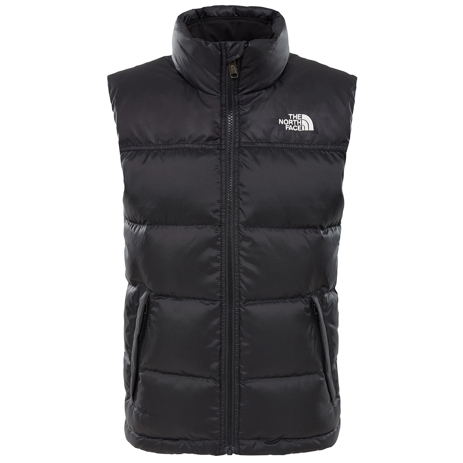 c034118b4 Details about The North Face Nuptse Down Kids Jacket Gilet - Tnf Black All  Sizes