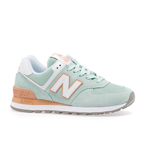 new concept ba5cc 28ee4 New Balance. New Balance Wl574 Womens Shoes - White ...