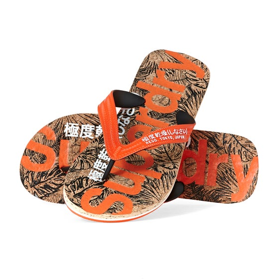 7976c777 Superdry. Superdry Printed Cork Flip Flop Sandals - Tango Black Cork