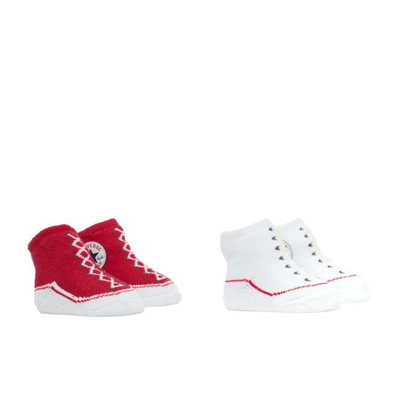 8c89e971ea Calze Converse 2 Pair Booties - Red