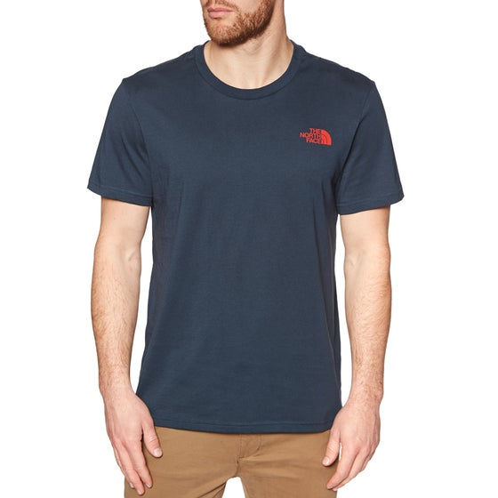 94471b7c3 North Face Simple Dome Short Sleeve T-Shirt - Urban Navy Fiery Red