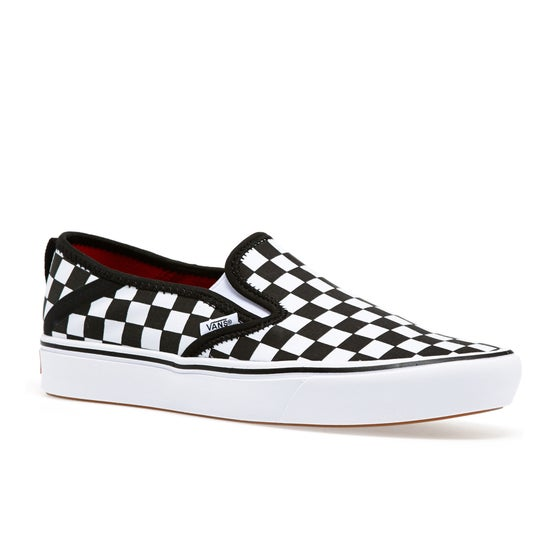 29dd9a7dfd4 Vans. Vans Comfycush Checkerboard Slip On Shoes - Black True White