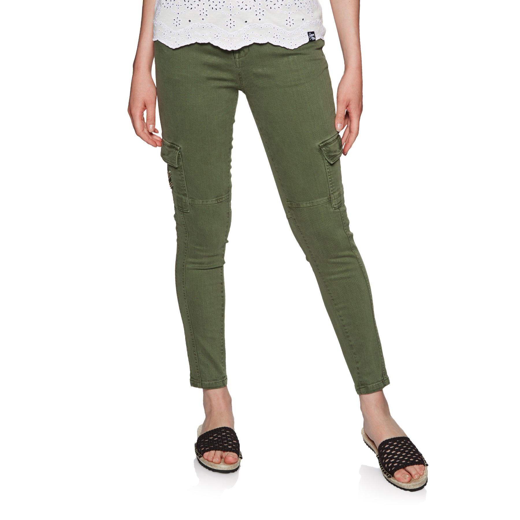 cheap for sale 100% quality cute cheap Superdry Daisey Skinny Womens Pants Cargo - Thyme Khaki All Sizes ...