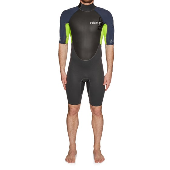 84291560d51a C-Skins Element 3/2mm 2019 Back Zip Shorty Wetsuit - Anthracite Bluestone  lime