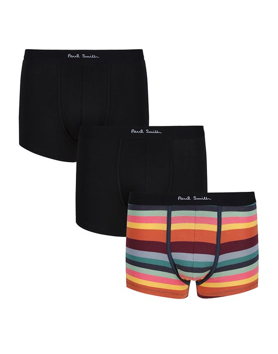 14b4e7f995 Paul Smith 3 Pack Trunks Men's Boxer Shorts - Black Stripe