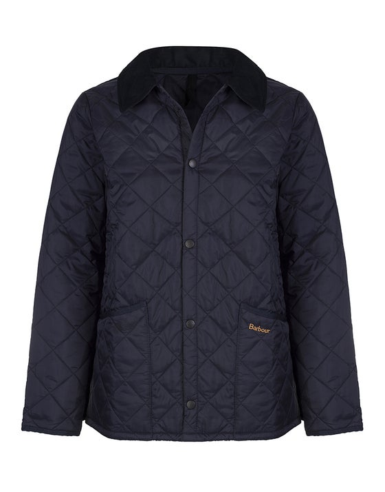 bcb36642 Barbour Liddesdale Quilted Short Boy's Jacket - Navy 2018