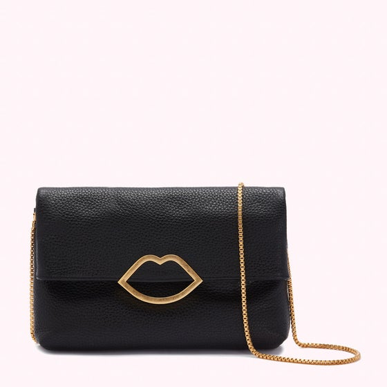 29944f9690 Lulu Guinness Half Covered Lip Issy (new) Women's Handbag - Black