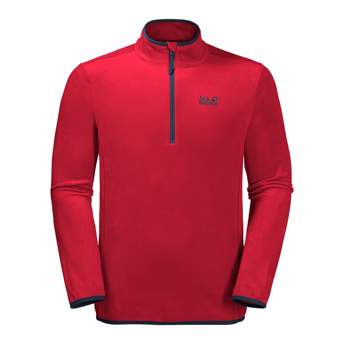 Details about Jack Wolfskin Echo Mens Jacket Fleece Red Lacquer All Sizes