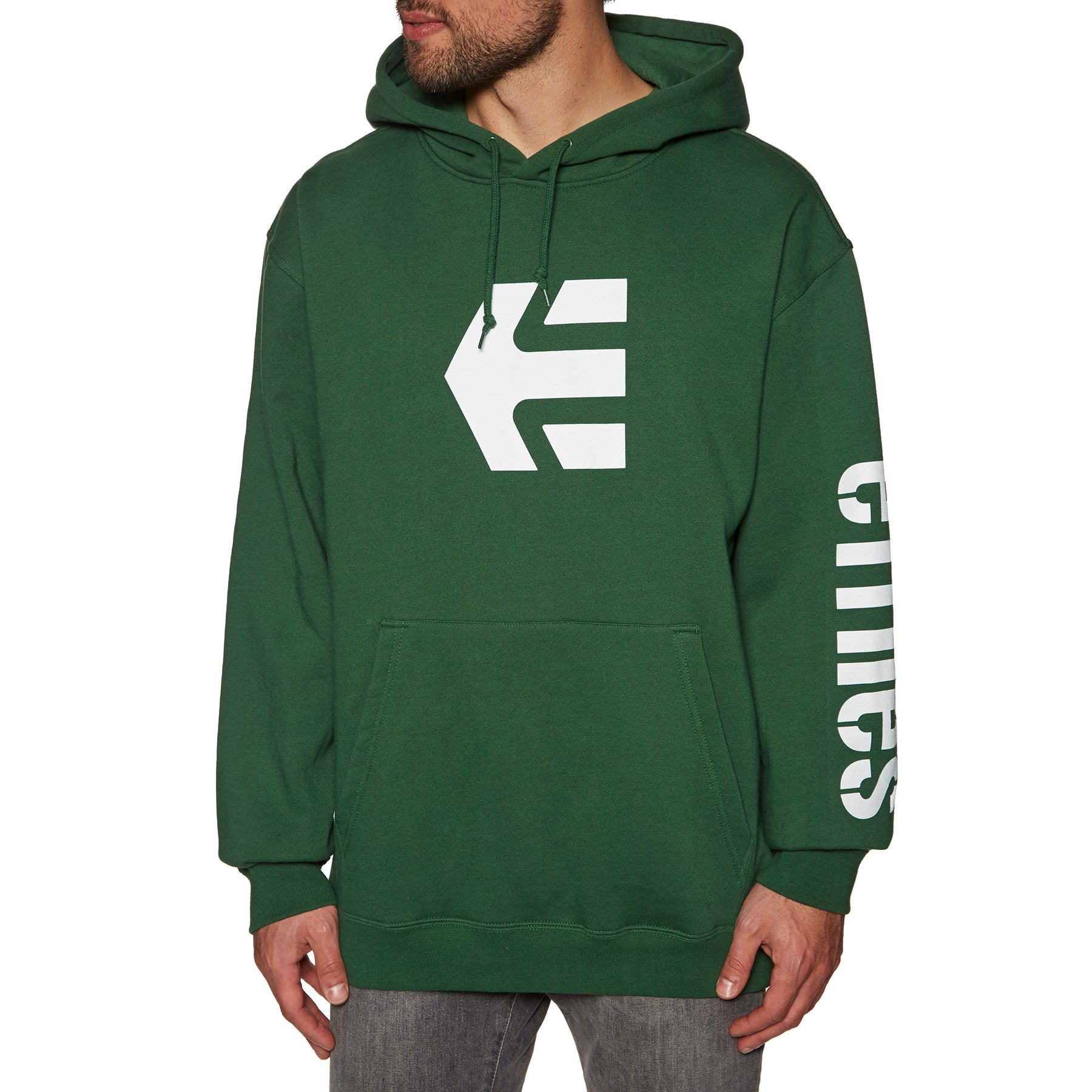Details about Etnies Icon Hoody Pullover Dark Green All Sizes