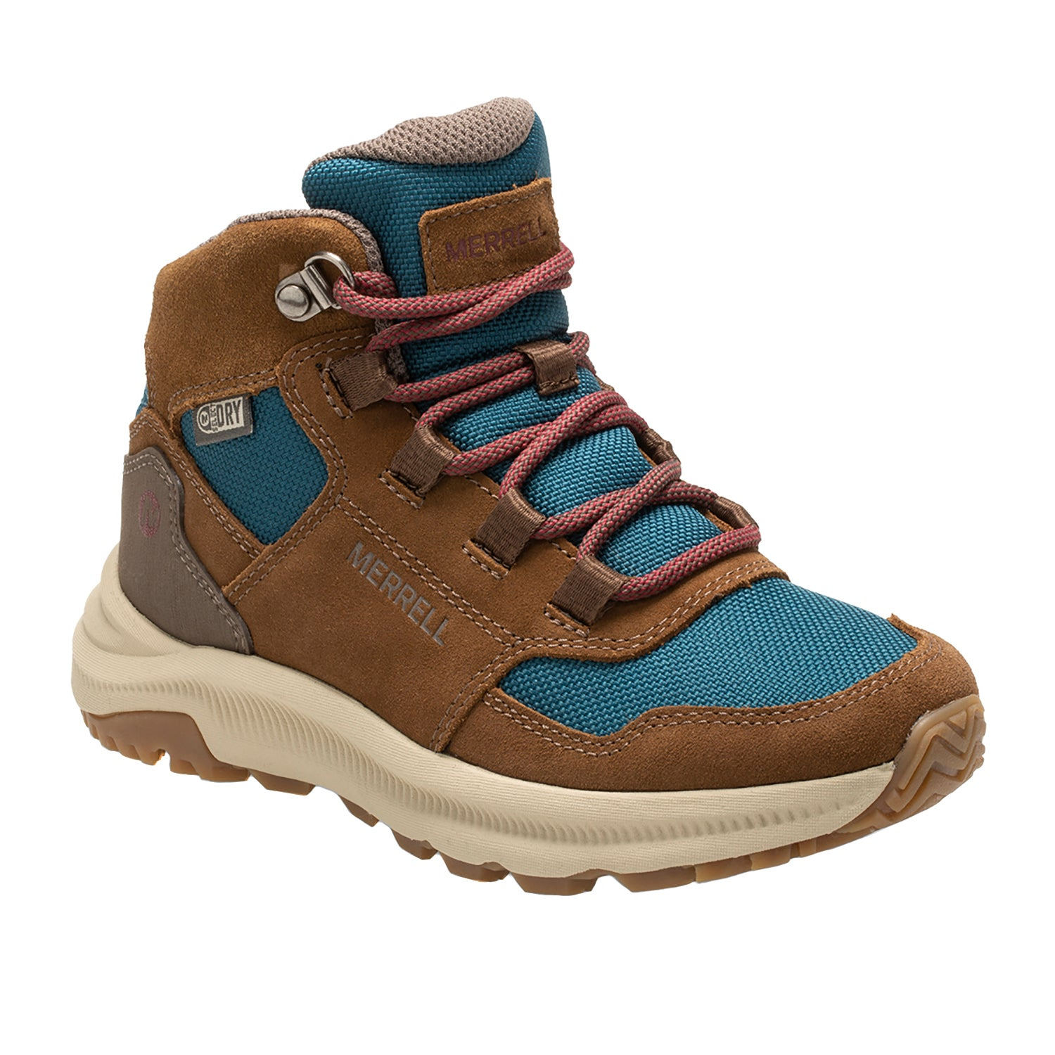 Merrell Moab 2 Mid Wtpf Kids Boots Walking Boot Grey Periwinkle All Sizes