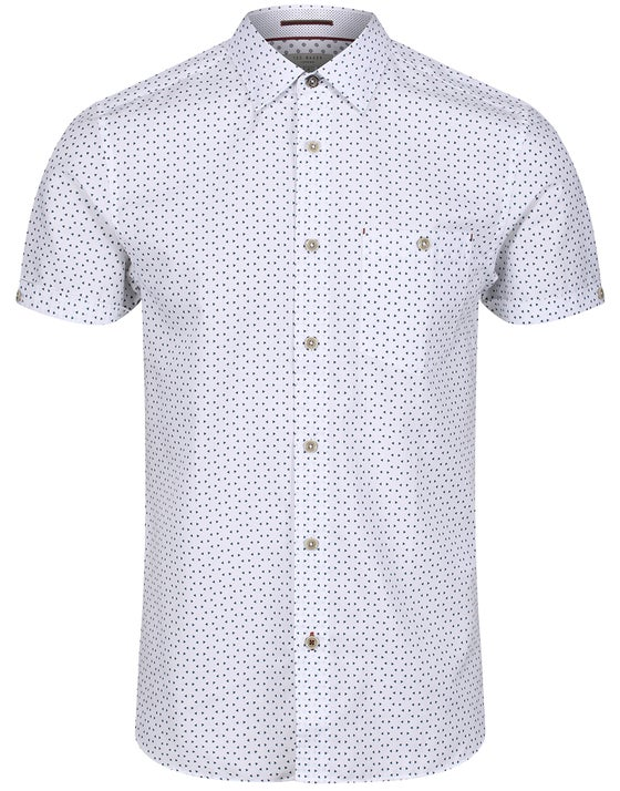 3472314d Ted Baker Mathew Short Sleeve Shirt - White