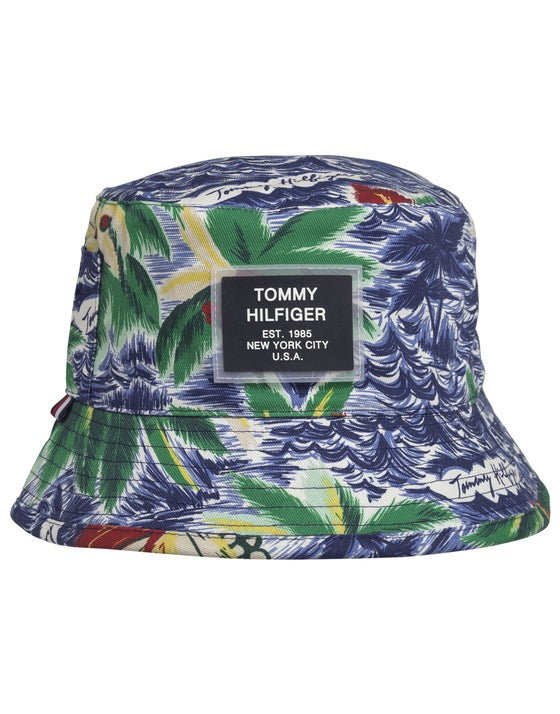 87cb3a67 Tommy Hilfiger Reversible Summer Hat - Tropical/ Light Blue
