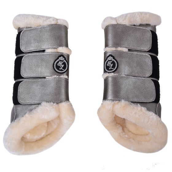 45c7d09a8d4 Kingsland Equestrian Bevil Hind Protection Boots 2 Pack Brushing Boot -  Silver