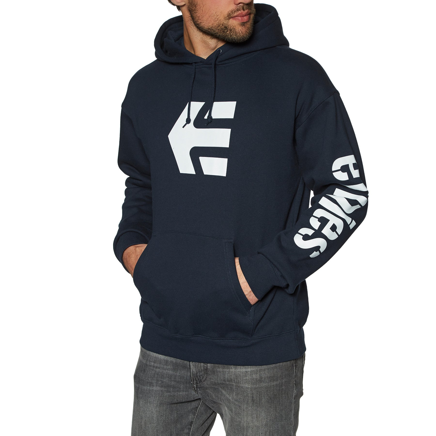 Details about Etnies Icon Hoody Pullover Navy All Sizes