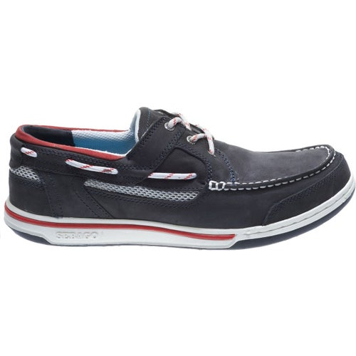 Sebago Triton Three Eye Slip On Shoes - Blue Navy Nubuck