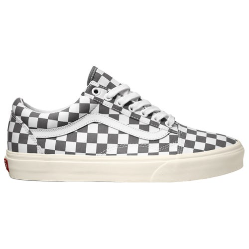 Vans Old Skool Checkerboard Shoes - Grey White