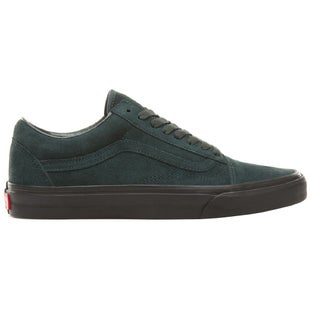 Vans Old Skool Black Outsole Shoes - Green Black
