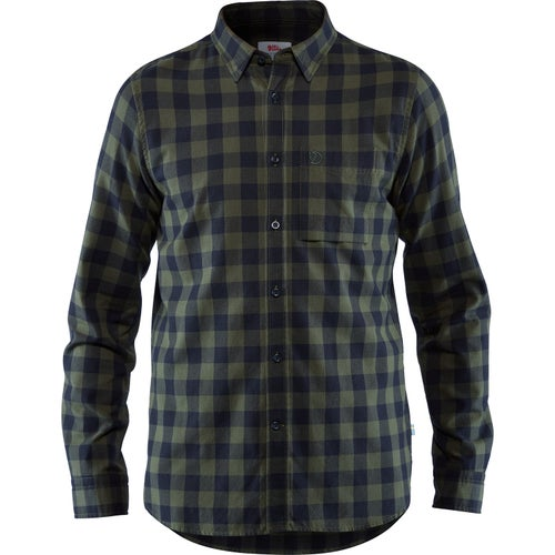 Fjallraven Övik Check Shirt Ls Shirt - Deep Forest