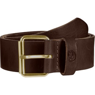 Fjallraven Singi Belt 4 Cm. Leather Belt - Leather Brown
