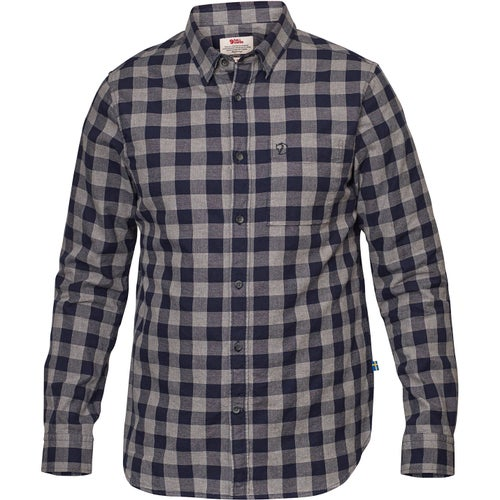 Fjallraven Övik Check Shirt Ls Shirt - Night Sky